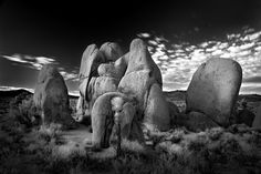 Rock Family | Mitch Dobrowner Vintage Photography, Art Photography, Rock Family, Earth Photos, Black And White Landscape, Ansel Adams, Black And White Pictures, White Art, Black And White Photography