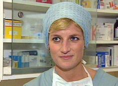 Princess Diana watched a heart operation at Harefield Hospital in 1996 Photo: © Rex
