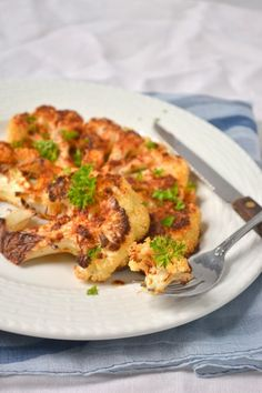 "Cauliflower ""steaks"" - we (kids included) LOVE roasted cauliflower...  definately trying this one!!!"