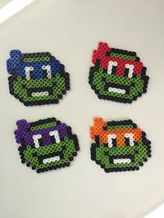 Teenage Mutant Ninja Turtles Perler bead by VioletsHandmadeGoods