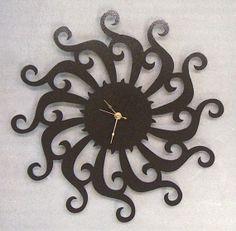 Metal Random Spiral Clock  FREE USA Shipping by KnobCreekMetalArts, $39.99