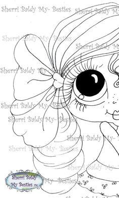 DESCARGA instantánea Digital Digi sellos ojo grande Big Head Dolls Digi Img988 2 por Sherri Baldy