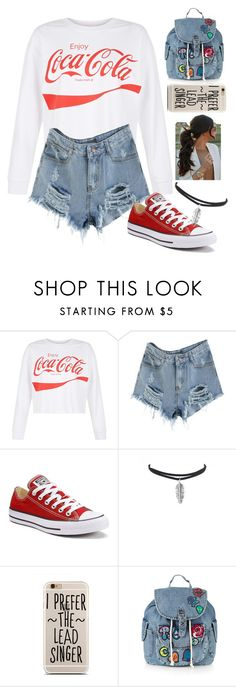 """""""Untitled #1774"""" by tokyoghoul1 ❤ liked on Polyvore featuring New Look, Converse and Topshop"""