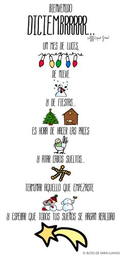 Bienvenido Diciembrrrrr... - El Blog de Sarai Llamas #compartirvideos #felizcumple