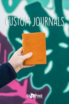 This pocket-sized journal is perfect for jotting down ideas on the go, recording travel experiences, or taking to the grocery store. They make the perfect gift and are customizable Leather Gifts, Handmade Leather, Custom Journals, Leather Journal, Ox, Grocery Store, Art Journaling, Pine, Bullet