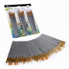 CONDA 50 pcs Assorted All- Purpose Paint Brush Set for Acrylic, Oil, Watercolors Chill Out Room, Coloring Brush Pen, Art Supplies Storage, Traditional Paint, Painted Trays, Paint And Sip, Fathers Day Crafts, Acrylic Canvas, Chalk Pastels