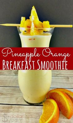 Smoothie Recipes Sunrise Breakfast Smoothie - Start your morning off right with this amazingly delicious pineapple orange breakfast smoothie recipe! It's so good and comes together in just a few minutes! PERFECT for your busiest mornings! Fruit Smoothies, Smoothies Banane, Healthy Smoothies, Healthy Drinks, Pineapple Smoothie Recipes, Healthy Food, Healthy Breakfast Smoothie Recipes, Delicious Smoothie Recipes, Drink Recipes