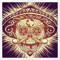 Mariachi El Skull texas/handlebar/mustache