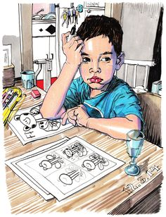 Rama Hughes's Sketchbook | Portrait of a young artist at work.