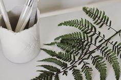 Poppytalk: DIY | Fern-Pressed Jar