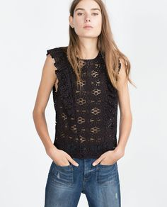 GUIPURE LACE TOP-View all-Tops-WOMAN-SALE   ZARA United States