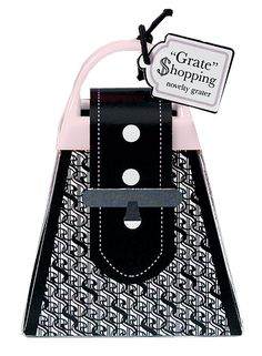 This intriguing little item is the mini bridal grate shopping bag. A fun and frivolous mix of design and function, this device is the perfect way to put an unexpected mirth into your next party. Intended mostly as a wedding favor, it can also be a stocking stuffer, a goof gift, or a favor for just about any kind of culinary celebration. The tiny bag sparkles with glittering rhinestones making it the perfect fancy carrying case for the savvy shopper at the supermarket. Inside you will find a…