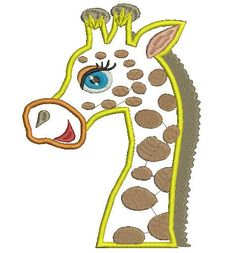Beautiful giraffe machine embroidery designs 2 sizes 4x4,5x7 by linensembroidery on Etsy