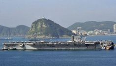 US aircraft carrier Nimitz off South Korea for drill