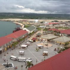 Falmouth Jamaica. This is almost like the view we saw from the our room on the balcony of our ship , in February, 2013.