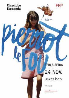 Pierrot Le Fou - Cineclube Economia. Unknown author.