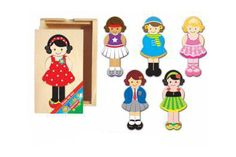 Dress Up Girl Wooden Mix n' Match Puzzle *