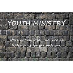 Youth ministry - God gave us a great place to serve Him!!