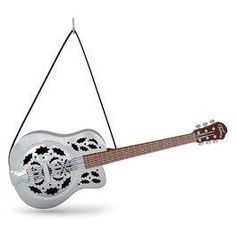 Up on the Housetop Guitar Musical Ornament,