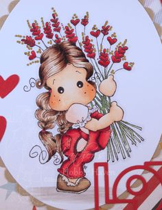 Tilda with Heart Rice Copic Coloring Card Kit