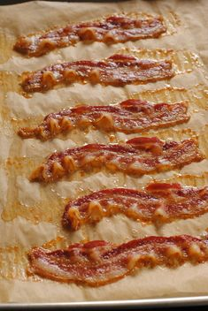 How to Make Bacon in the Oven 375 for 18 to 20 mins. Line pan with parchment paper.