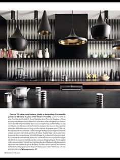 Industrial kitchen - black - Elle Decoration France, mar 2014
