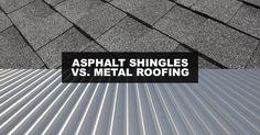 Asphalt Shingles vs. Metal Roofing #Roofing #Roofers Commercial Roofing, Residential Roofing, Asphalt Shingles, Nassau County, Suffolk County, Roofing Contractors, Roof Repair, Southampton, Metal Roof