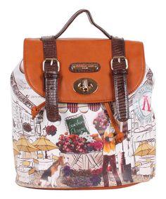 This Garden Flower Gitana Vintage Backpack Handbag by Nicole Lee is perfect! #zulilyfinds