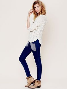 Nightcap Embroidered Patch Skinny Jean at Free People Clothing Boutique