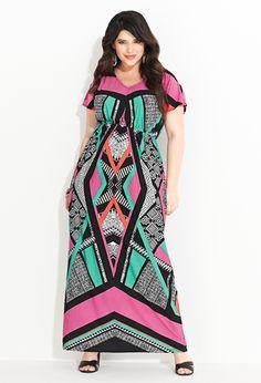 Plus Size Geo Print Maxi Dress | Plus Size View All New Arrivals | Avenue