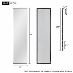 Modern Aluminum Alloy Thin Framed Full Length Floor Mirror - On Sale - Overstock - 30393628 - 71x31x1 - Gold Full Length Floor Mirror, Full Mirror, White Mirror, Mirror Shapes, Large Furniture, Minimalist Decor, Home Decor Outlet, Aluminium Alloy, Modern Contemporary