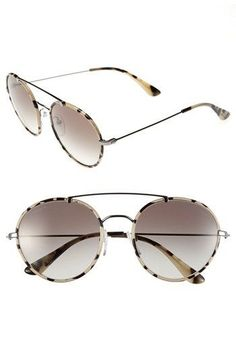 ff6de1ecc7 Prada 54mm Retro Sunglasses Prada Sunglasses