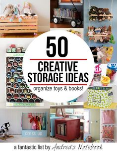 50 creative storage ideas for toys & books!