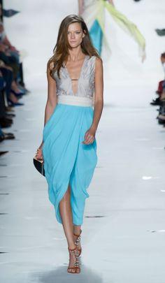 Diane Von Furstenberg - light blue dress