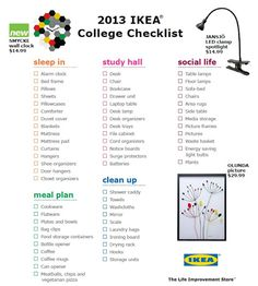 Freshman College Dorm Room Essentials  Checklists  College List
