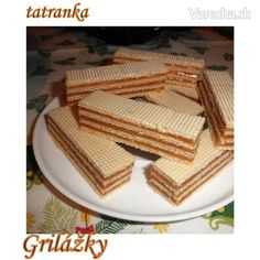 Griláž v oblátke - recept Czech Recipes, Russian Recipes, Christmas Baking, Christmas Cookies, Cream Cheese Flan, Czech Desserts, Condensed Milk Cake, Desserts With Biscuits, Wonderful Recipe