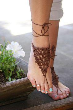 Zapatos de Bohemia sandalias pies descalzos sandalias de