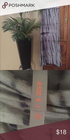 Such a Great Gray & Black Tye Dye Maxi Skirt SZ M Such a Great Gray & Black Tye Dye Maxi Skirt with Fold Over Waist SZ M Longer Length Jesse & J Skirts Maxi