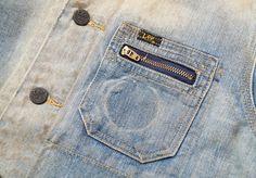 NEW LEE 101 J SHORT LOCO JACKET SIZE L WASHED DIRTY DENIM $350 SUPER RARE | eBay