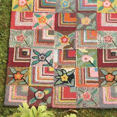 Gypsy Rose Wool Hooked Rug from PoshTots