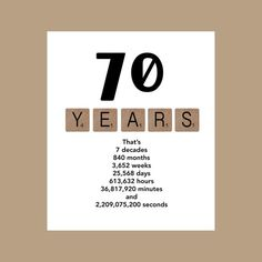 The 70th Decade Birthday Card Is Sure To Make Recepeint Smile Printed On 100lb White Matte Stock Measures 5 X 7 And Individually