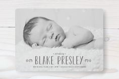 Adored Birth Announcements by Carolyn MacLaren at minted.com