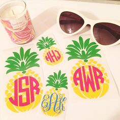 Instagram and pineapple monograms by Unending Love Boutique! www.etsy.com/shop/unendingloveboutique