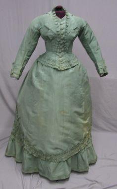 1108 High Fashion 1868 1870's 3 PC Seafoam Green Ensemble | eBay