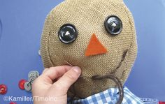How to make a scarecrow and a bird scarer - a great project for children