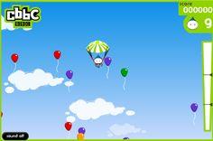 Ayuda a este chico a caer bien con su paracaídas esquivando los obstáculos que encuentre en la bajada, también tienes que acumular tantos globos como sea posible, llenate de puntos y trata de ganar este bonito juego. Presiona X para disparar.