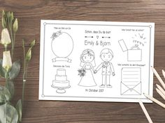 """Coloring page PDF """"Grace"""" wedding party favor - Painting Style Wedding Illustration, Cute Coloring Pages, Wedding Party Favors, Special Day, Bullet Journal, Lettering, Painting, Big, Style"""