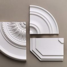 Did you know that our ceiling roses are great at hiding any unwanted cables? Choose from the classic and simple Adornment 1, the more decorative Adornment 2, or the sculptured ceiling tile Adornment 3. All are super easy to mount and paint! | wallark.com | #wallark #wallarkstore #cornice #coving #ceiling #ceilingrose #crownmoulding #panelmoulding #renovation #moulding #interiordesign #nordicdesign #nordicinterior #classic #modern #walldecor #homedecor #details #kattolista #kattorosetti… Panel Moulding, Crown Molding, Nordic Interior, Interior Design, Coving, Ceiling Rose, Cornice, Nordic Design, Super Easy
