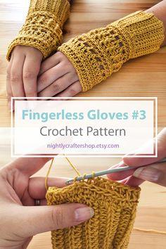 Crochet Fingerless Gloves Free Pattern, Crochet Gloves, Mittens Pattern, Fingerless Mittens, Crochet Yarn, Crochet Ideas, Crochet Projects, Crochet Hand Warmers, Knitting Patterns