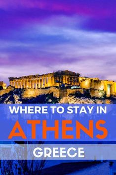 Where to stay in Athens: The Best Hotels and Neighbourhoods. #greecetravel